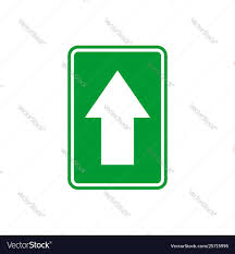 Free Signage Template Straight Arrow Signage Template