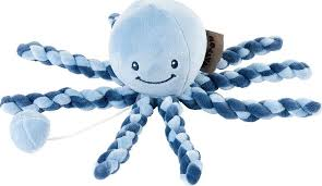 <b>Игрушка мягкая Nattou</b> Musical Soft toy Lapidou Octopus navy blue ...