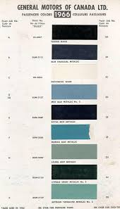 1966 Chevelle Paint Charts And Codes