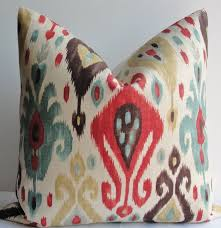 red and teal pillows. Brilliant Red Red Gold Teal IKAT Decorative Pillow Cover Designer Linen Throughout And Teal Pillows I