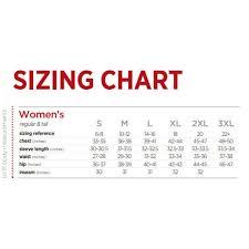 Polo Size Chart Women S Womens Kiso Polo