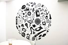 office wall stickers. Vinyl Mural Wall Design Office Stickers