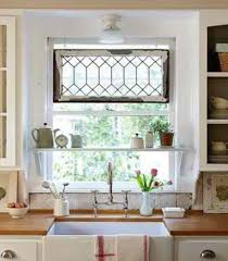 window treatments for kitchen windows over sink decor