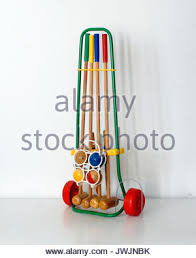 Game With Wooden Sticks Vintage game set for Croquet made by Favre Made in France 91