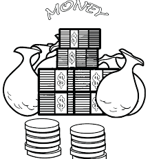 Free Money Coloring Pages Printables Money Coloring Pages Sheet Page