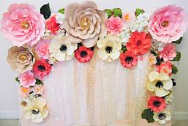 How To Make Paper Flower Backdrop Mamas Gone Crafty Easy Paper Flower Backdrop Assembly