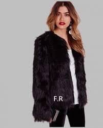 women faux fur coat jacket winter warm fur coat female black short style thick 2019 autumn manteau long sleeves fur coat y868