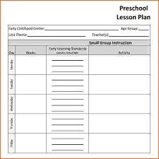 Kindergarten Daily Lesson Plan Template 20 Preschool Lesson Plan