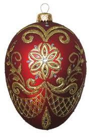 Edward Bar PYSANKA RED egg glass Christmas ornament $42.00 eBay