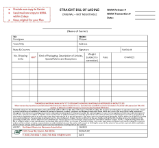 example short form straight bill of lading form free sample customer service resume