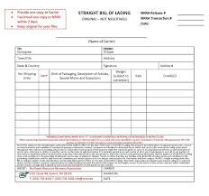 example short form straight bill of lading form free sample customer service resume