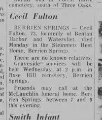 Cecil Fulton Obituary - Newspapers.com