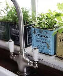 Terrace and Garden: Wooden Box Herb Garden - Indoor Garden