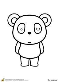 Dessin Imprimer Et Colorier D Un Panda Amoureux