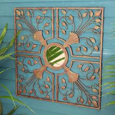 original moorish metal mirror wall art garden  on wall art garden uk with amazing outdoor canvas wall art uk fiesta sun indoor in recent large