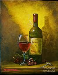 capri painting wine shadow ombra di vino by italian art