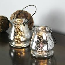 mercury candle holders glass hanging holder in silver for each votive bulk