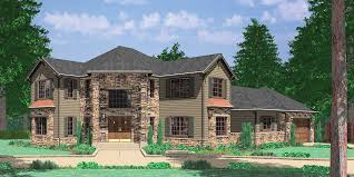Corner Lot House Plans and House Designs for Corner Properties Grand Entrance Corner Lot House Plan  Master on the Main Floor