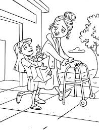 He gave me my ears that i might hear. Kindness Is Helping Old People To Carry Their Bag Coloring Pages Kids Play Color