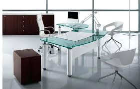 contemporary glass office. Large Size Of Contemporary Glass Office Desk Cute For Interior Designing Ideas With Decoration Modern Home S