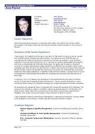 Standard Resume Format Doc Reference Of Resume Template Doc 11 Cv