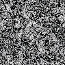 abstract black and white abstract painting