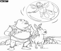 Small Picture Shrek coloring pages printable games