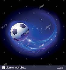 4 Pics 1 Word Lights Soccer Ball With Blue Flame Uefa Stock Vector Images Alamy