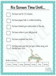 6 Year Old Behavior Chart Awesome No Screen Time Until