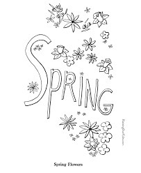 Spring Coloring Pages 001