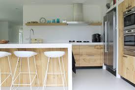 Witte Keuken Houten Werkblad