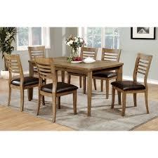 mibasics simple rectangular dining table wood natural tone