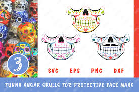 Give thanks free svg cut file (note: 3 Funny Sugar Skulls For Face Mask Graphic By Natariis Studio Creative Fabrica