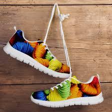 Sneakers With Yarn Design Yarn Sneakers