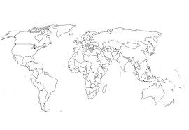 World Map Coloring Page Coloring Page Book For Kids