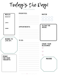 Daily Planner Printables Daily Planner Printable Whole Hearty