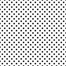 ドット柄水玉模様の背景透過pngイラストパターン素材黒色