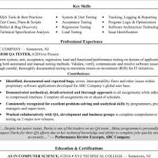 Sample Resume For Entry Level Software Tester Best Penetration