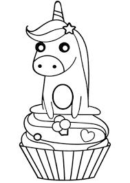 Disegno Di Unicorno Sulla Tortina Da Colorare Disegni Da Colorare