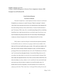 Analytical Response Essay Examples Student Writing January 2008