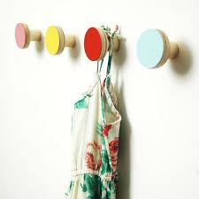 view in gallery colorful wooden wall hooks