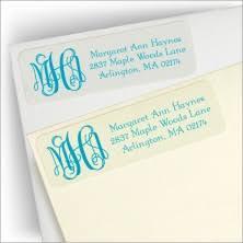 Monogram Return Address Labels Create Personalized Return Address Labels