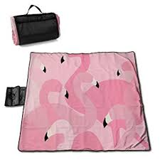 "<b>Pink Flamingo</b> Oversized <b>Foldable</b> Picnic Blanket 57""x59"" Outdoor ..."
