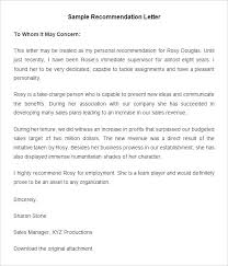 Letters Of Recommendation For Jobs Template Sample Recommendation Letter For Employee Regularization