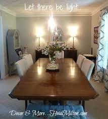dining room lights diy