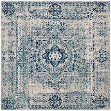 evoke ivory blue 9 ft x 9 ft square area rug