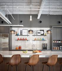 office kitchens. Gensler Offices - San Diego Colorful Decorative Modern Office Kitchen With Open Shelving Kitchens