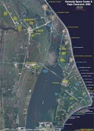 map of launch pads at cape canaveral in florida usa  project