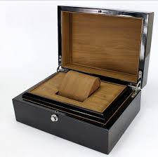 top black wooden watch box personal use watch storage case for single new jewelry gift package box case watch collector case watch collector boxes from