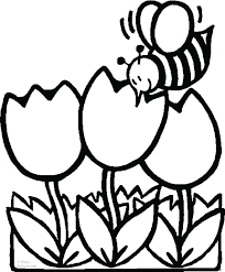 Flower Coloring Pages Animal Print Out